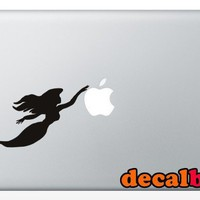 Mermaid Treasure Silhouette 15 inch Macbook Art Vinyl by decalbug