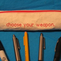 Choose Your Weapon Zippered Pencil Pouch by NausicaaDistribution