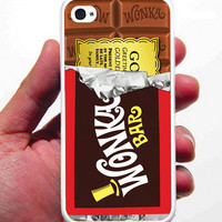 Golden Ticket Willy Wonka iPhone Case - Rubber Silicone iPhone 4 Case or Plastic iPhone 5 Case