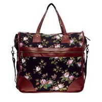 ASOS | ASOS Dark Floral Print Oversized Shopper at ASOS