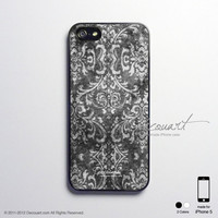 iPhone 5 case, iPhone 5 cover, case for iPhone 5, vintage floral pattern S392