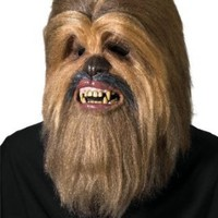 Amazon.com: Star Wars Supreme Edition Chewbacca Mask, Brown, One Size: Clothing
