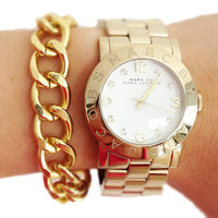 ON SALE: Gold Plated chunky chain Bracelet - 24k gold plated