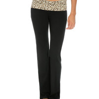 Leopard Foldover Yoga Pant | Shop Active at Wet Seal