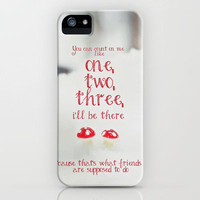 COUNT ON ME **Bruno Mars Lyrics to the FRIENDS  iPhone Case by SUNLIGHT STUDIOS for iPhone 5 +4 +4s +3gs +3g +skins +ipad mini