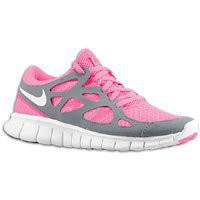 NIKE Free Run+ 2 Women's Running Shoes, Pink Flash/White/Cool Grey