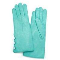 Tiffany &amp; Co. | Item | Triple button gloves in Tiffany Blue?- nappa leather. More colors available. | United States