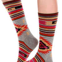 Stance Outpost Multi Southwest Print Socks