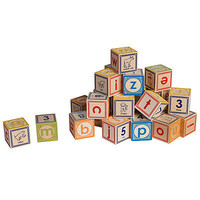 LOWERCASE ALPHABET BLOCKS | Classic Embossed Wooden ABC Blocks | UncommonGoods