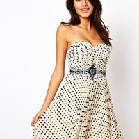 Little Mistress Embellished Polka Prom Dress at asos.com