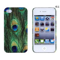 Amazon.com: Peacock Feather Embossed Hard Case for Apple iPhone 4, 4S (AT&amp;T, Verizon, Sprint) - Includes DandyCase Keychain Screen Cleaner [Retail Packaging by DandyCase]: Cell Phones &amp; Accessories