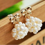 Bowed Pearl Ball Fashion Earrings  | LilyFair Jewelry