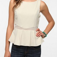 Pins and Needles Crepe Peplum Tank Top