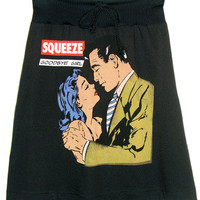Squeeze 1970 Punk Rock New Wave Pop Art Skirt