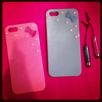 IPhone 5 Case with Bow & Pearls from La Fede Boutique