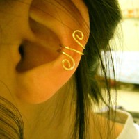 Double loop ear cuff