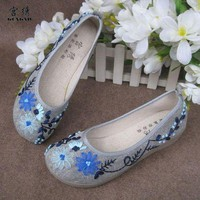 Embroidered cotton shoes/Women&#x27;s shoes - 08  from Time Memory