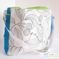 The Cool Big Bag - White Leafs With.. on Luulla