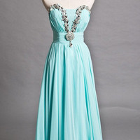 A-line Strapless Sleeveless Knee-length Chiffon Fashion Prom Dresses/Wedding Dress/Cocktail Dress With Beading Free Shipping