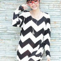 Korean Women Fashion One-Piece Dress T-SHIRT #1061 Lady Long Sleeve Tee Tops