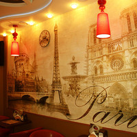 "STICKER MURAL Paris vintage classic gold autumn wallpaper decole poster film 157x118"" (400x300cm)"