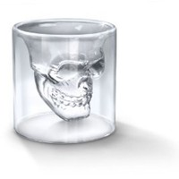 Fred and Friends Doomed: &#x27;Crystal Skull&#x27; Shotglass: Amazon.com: Kitchen &amp; Dining