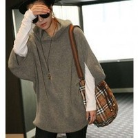 New Arrival Korean Aautumn&Winter Style Hood Loose Fleece (Big Size) China Wholesale - Sammydress.com