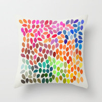Rain_Multicolor Throw Pillow by Garima Dhawan | Society6