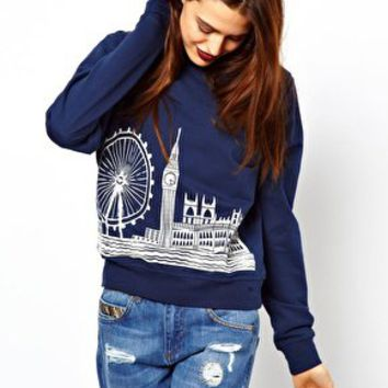 ASOS Sweat with London Scene at asos.com