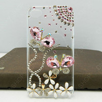 Pearl Butterfly fly pink Butterfly   iphone 5 case iphone 4 case iphone 4s case iphone 3 case