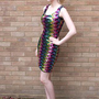 Rainbow sequin glitter cocktail party dress | Itsvintagedarling | ASOS Marketplace