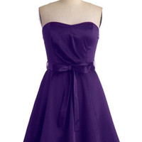 Zest is More Dress in Purple | Mod Retro Vintage Dresses | ModCloth.com