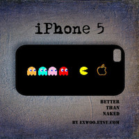 iPhone 5 Case, iPhone case,  iPhone 5 Cover, Hard iPhone 5 Case - Pac Man