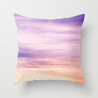 Evening Abstract Throw Pillow by Sweet Reveries (Andrea Hurley)  | Society6