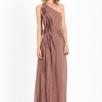 Let It Fall Chiffon Maxi Dress