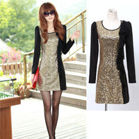 Sequin A -line Knee Lenght Dress