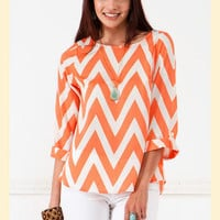 Chevron Up Blouse