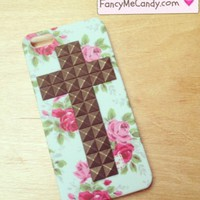 iPhone 5 Vintage Floral Cross Stud  from Fancy Me Candy