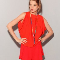 Orange tulip back top [Gra2977] - &amp;#36;65 : Pixie Market, Fashion-Super-Market