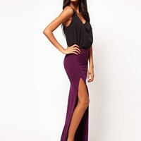 ASOS Maxi Skirt with Thigh High Split at asos.com