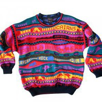 Emaroo Australia Kangaroo Bright Textured Cosby Style Tacky Ugly Sweater Men&#x27;s Size Medium (M)