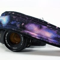 Galaxy No. 52 Camera Strap, Hand painted, dSLR or SLR, Cosmos, Nebula, OOAK