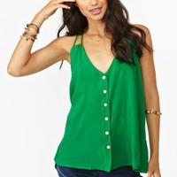 Button Up Tank - Green