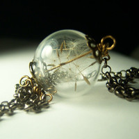 Make A Wish Dandelion Seed Hollow Lampwork Bead by KarmaBeads