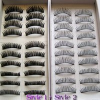 Amazon.com: 20 Pairs Regular Long and Thick Eyelashes Style 1 and 2: Beauty