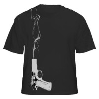 Smoking Gun Mens Black Tshirt M L XL XXL XXXL by StrangeJam