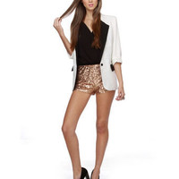 Hot Sequin Shorts - Copper Shorts - &amp;#36;39.00