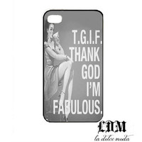 tgif thank god I&#x27;m FABULOUS iPhone 4 iPhone 4s iPhone 5 hard plastic case funny vintage trendy cute