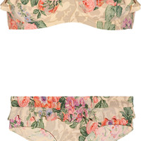 Zimmermann | Devoted floral-print ruffled bikini | NET-A-PORTER.COM