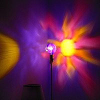 The ORIGINAL Hand-Painted Sun, Moon &amp; Star Mood-Light Bulb 4 Color Therapy, Night Lights, Parties, Mood Lighting